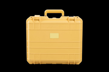 yellow suitcase for travalling