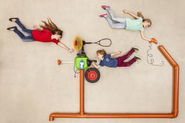 Kinder entwickeln neue Wettermaschine
