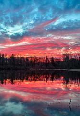 Pond at Sundown