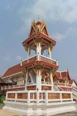 bell tower with sky background at Wat Sukpoondarikaram