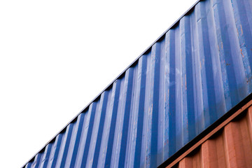 freight shipping containers at the docks