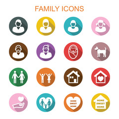 family long shadow icons