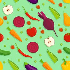 Vegetarian seamless background