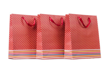 Gift bags isolated on the white background