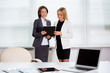 Young businesswomen at the workplace