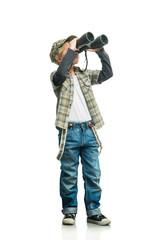Boy with a binoculars