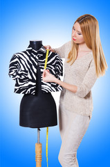 Woman tailor isolated on the white