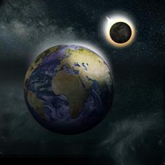 Sonnenfinsternis, Mond, Erde, Universum