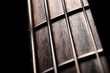 Leinwanddruck Bild - Bass fret board