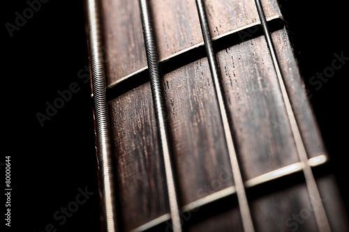 Leinwanddruck Bild Bass fret board