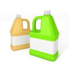Blank detergent bottle.