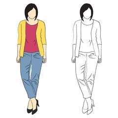Girl fashion sketch