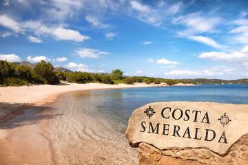 Beautiful ocean coastline in Costa Smeralda, Sardinia, Italy