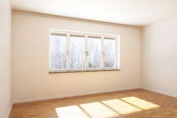 Einfaches, leeres Zimmer