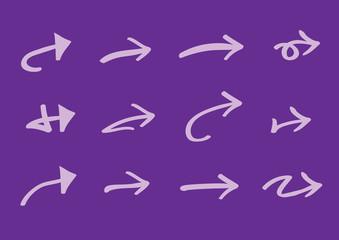 Purple Arrow Icons Vector Illustration