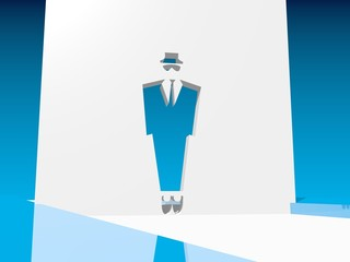 man in siut 3d icon