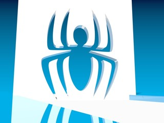blue spider icon