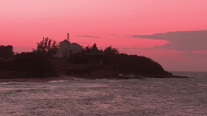 Scenic sunset sky background