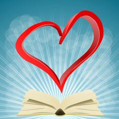 książka i serce 3D
