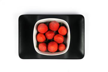 Un piatto di fragole