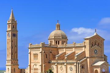 Ta Pinu Church in village Gharb Gozo island