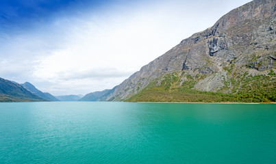 Gjende is a lake in the Jotunheimen mountains