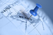 Location Mexico. Blue pin on the map. - 80006481