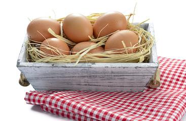 Organic Eggs in Box