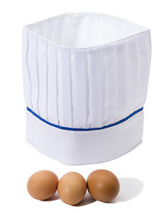 Eggs and Chef's Hat