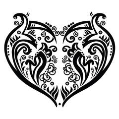 Swirly heart tatoo inspired