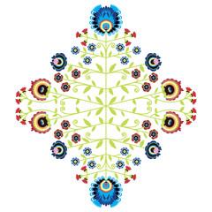 Polish folk inspired floral pattern