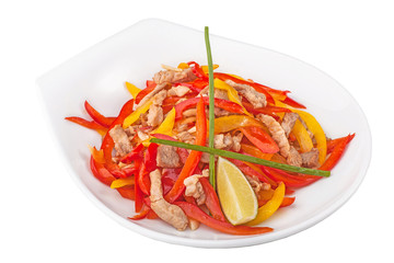 chicken and vegetables salad