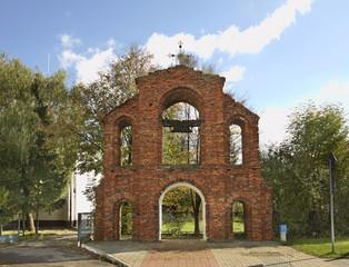 Gate-belfry of uniate church in Koden. Poland