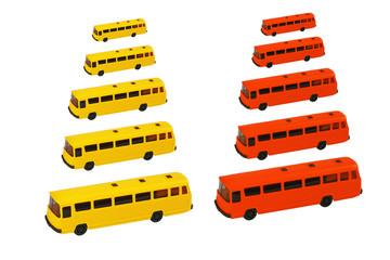 Bus Modell_Maßstab isoliert