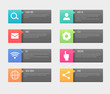 Web Buttons. Vector illustration. - 80007642