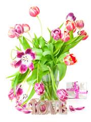 Tulpen, Geschenk, Liebe
