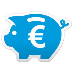 Pegatina simbolo hucha con euro