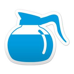 Pegatina simbolo jarra de cafe
