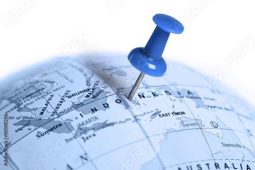 Aluminium Indonesië Location Indonesia. Blue pin on the map.