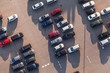 aerial view of car parking