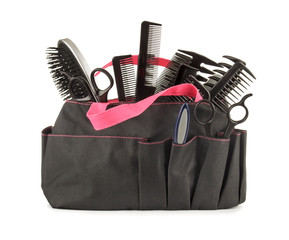 hairdressing appliances and appliances for manicure in a bag on
