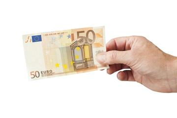 50 Euro Schein in der Hand