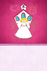 First Holy Communion reminder card for girl