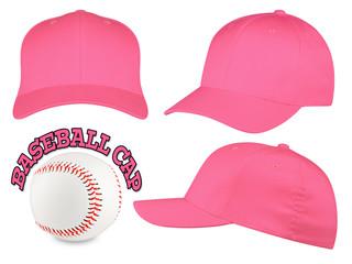 pink baseball cap set