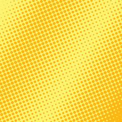 Orange and yellow halftone background