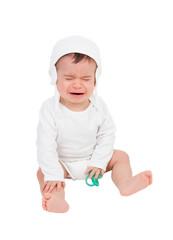 Nice baby crying isolated