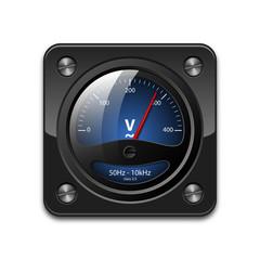 Vector voltmeter icon