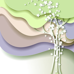 Abstract spring tree