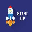 Rocket Symbol with explore concept - 80011657