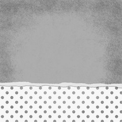 Square Gray and White Polka Dot Torn Grunge Textured Background
